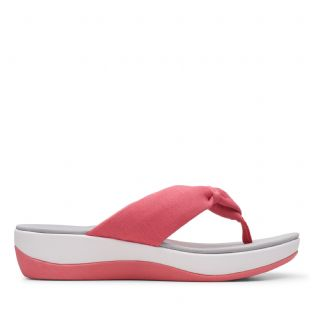Clarks Womens Arla Glison Raspberry Synthetic Sandals